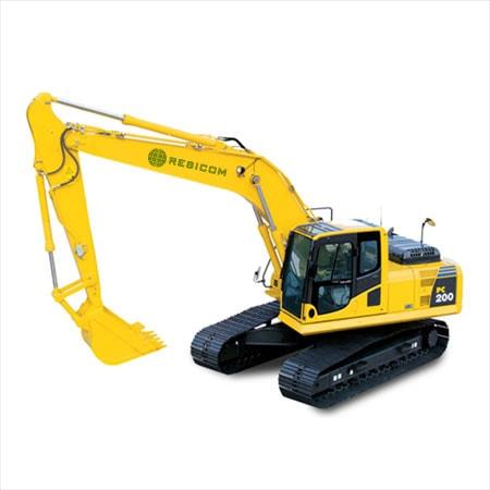 Retro excavadora sobre orugas PC200Lc